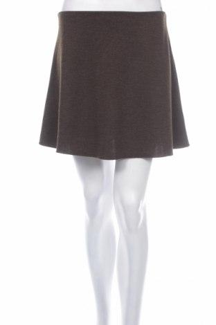 Пола Zara Trafaluc, Размер S, Цвят Кафяв, 62% полиестер, 38% вискоза, Цена 14,00лв.