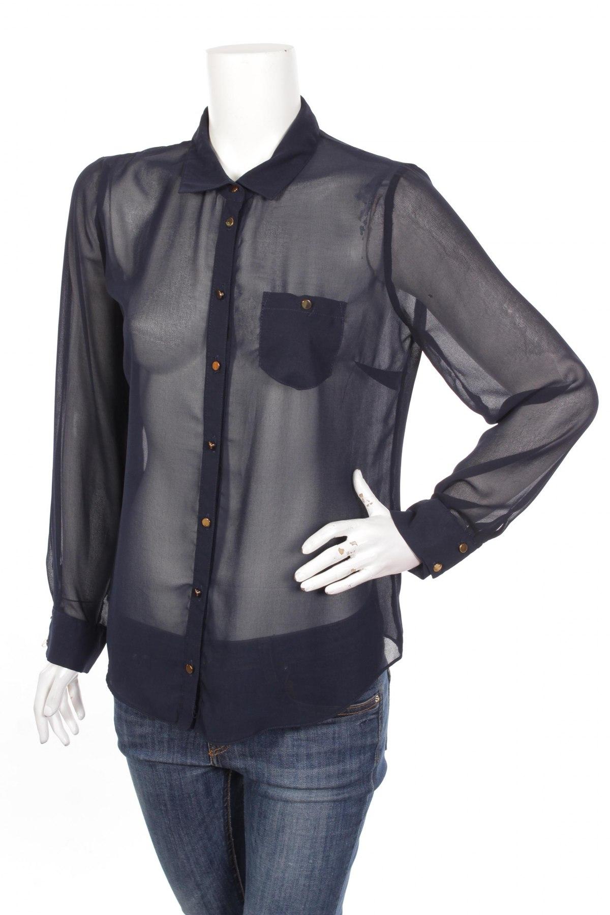 Γυναικείο πουκάμισο Atmosphere, Μέγεθος L, Χρώμα Μπλέ, Τιμή 16,08€