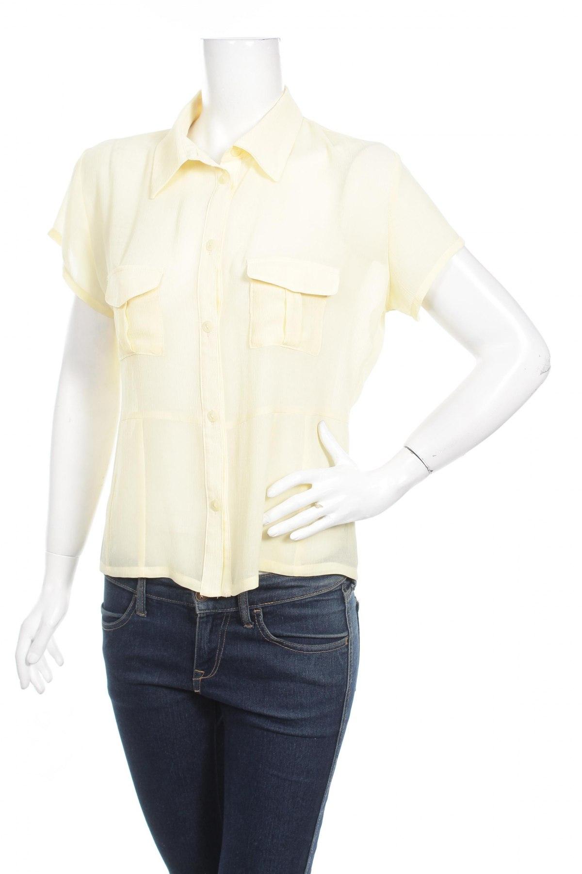 Γυναικείο πουκάμισο Villaggio, Μέγεθος L, Χρώμα Κίτρινο, Τιμή 9,28€