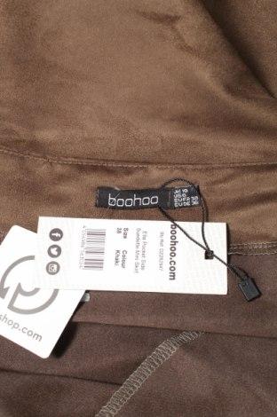 Пола Boohoo, Размер S, Цвят Кафяв, Полиестер, Цена 38,35лв.