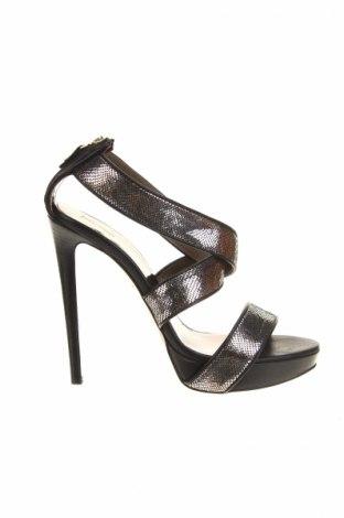 Sandály  Just Cavalli, Veľkosť 39, Farba Strieborná, Pravá koža , Cena  142,53€