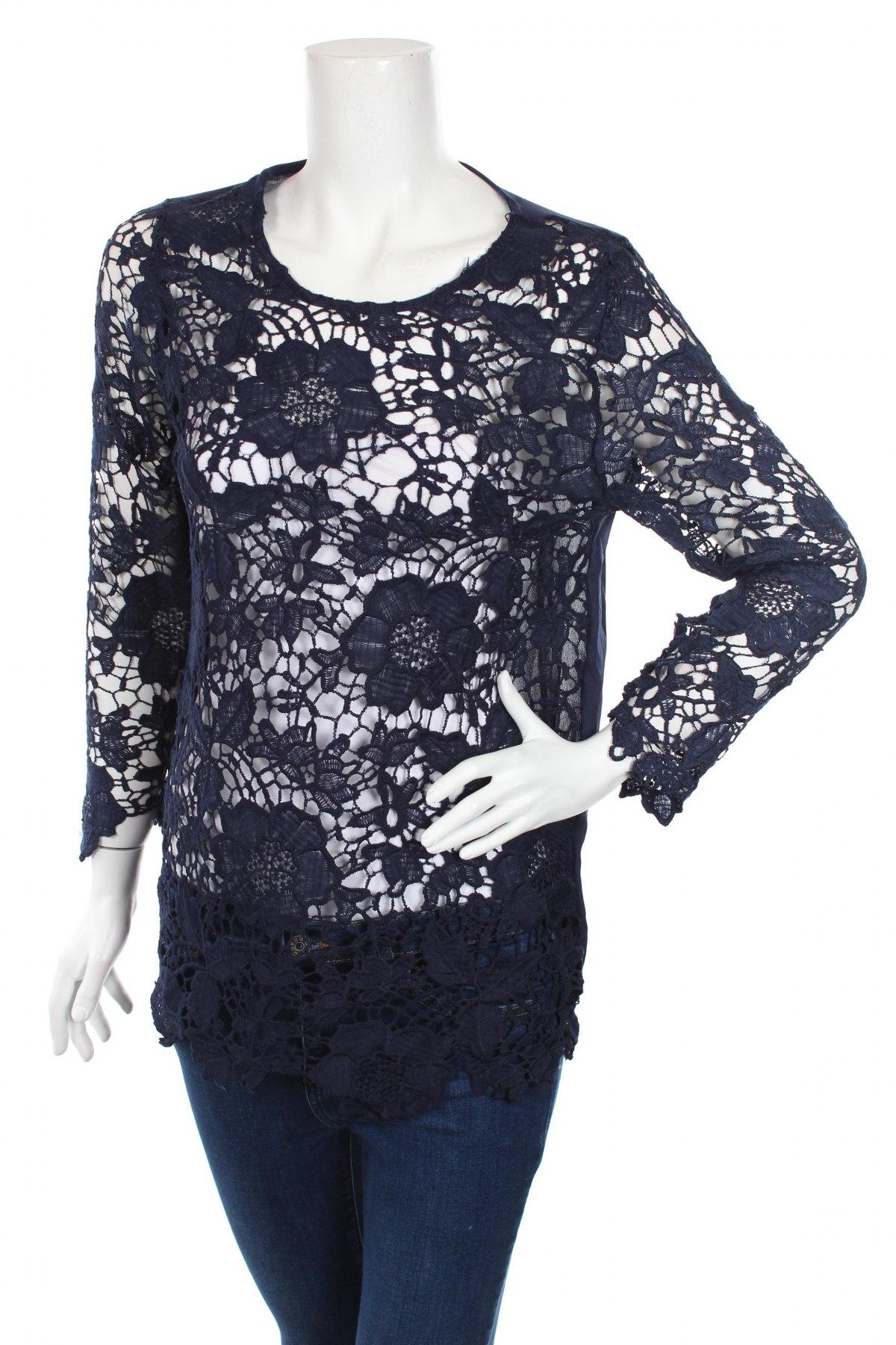 Дамска блуза Club L, Размер L, Цвят Син, 100% полиестер, Цена 29,90лв.