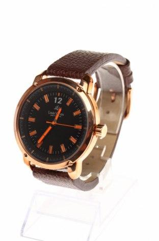 Часовник Louis Villiers, Цвят Кафяв, Естествена кожа, метал, Цена 52,50лв.