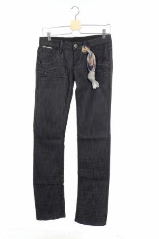 Дамски дънки Bandits Du Monde, Размер S, Цвят Син, 64% памук, 36% еластан, Цена 21,84лв.