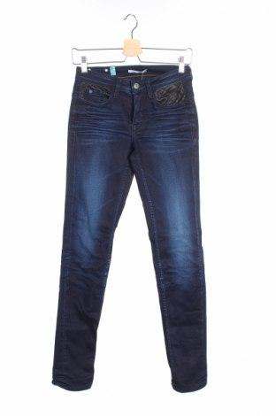 Дамски дънки Le Temps Des Cerises, Размер XS, Цвят Син, 93% памук, 6% полиестер, 1% еластан, Цена 25,80лв.