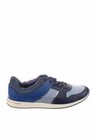Γυναικεία παπούτσια Gino Rossi, Μέγεθος 40, Χρώμα Μπλέ, Γνήσιο δέρμα, κλωστοϋφαντουργικά προϊόντα, Τιμή 19,49€