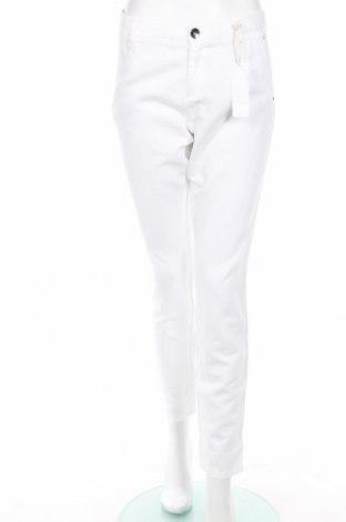Дамски панталон Ddp, Размер XL, Цвят Бял, 55% памук, 45% лен, Цена 27,25лв.