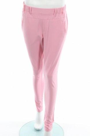 Дамски панталон Kaffe, Размер M, Цвят Розов, 68% полиестер, 28% вискоза, 4% еластан, Цена 26,23лв.
