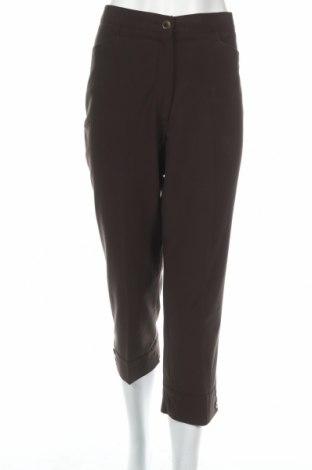 Дамски панталон Laura Lebek, Размер M, Цвят Зелен, 62% полиестер, 33% вискоза, 5% еластан, Цена 14,25лв.