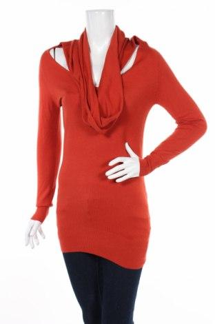 Дамски пуловер Anna Riska, Размер M, Цвят Червен, 57% вискоза, 43% полиамид, Цена 14,50лв.