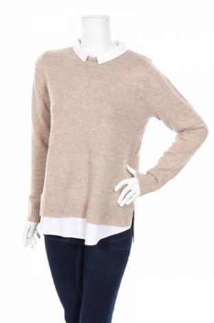 Дамски пуловер Esprit, Размер M, Цвят Бежов, 55% полиамид, 302% акрил, 15% вълна, Цена 82,00лв.