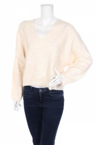 Дамски пуловер Mango, Размер S, Цвят Екрю, 72% акрил, 25% полиестер, 3% еластан, Цена 59,00лв.
