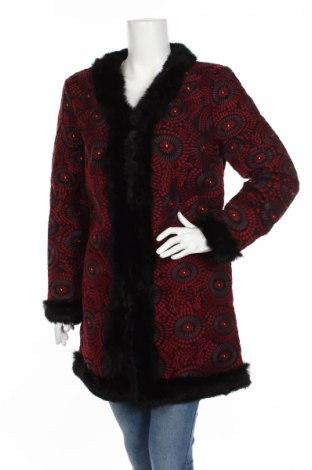 Palton de femei Antik Batik, Mărime M, Culoare Roșu, Bumbac, blană naturală, Preț 456,37 Lei