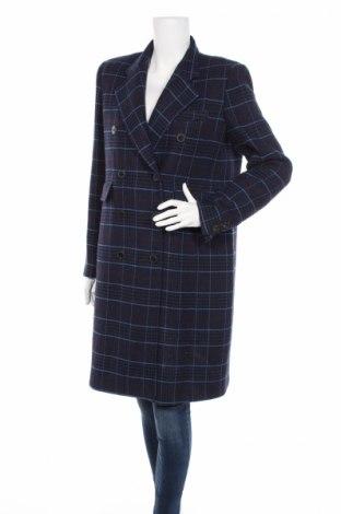 Дамско палто Mango, Размер M, Цвят Син, 52% акрил, 25% полиестер, 18% вълна, 2% полиамид, 2% памук, 1% вискоза, Цена 218,00лв.