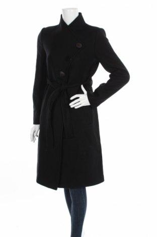 Дамско палто Mango, Размер M, Цвят Черен, 66% вълна, 31% полиамид, 2% акрил, 1% полиестер, Цена 218,00лв.