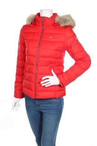 Γυναικείο μπουφάν Tommy Hilfiger, Μέγεθος S, Χρώμα Κόκκινο, Πολυεστέρας, φτερά και πούπουλα, Τιμή 172,78€