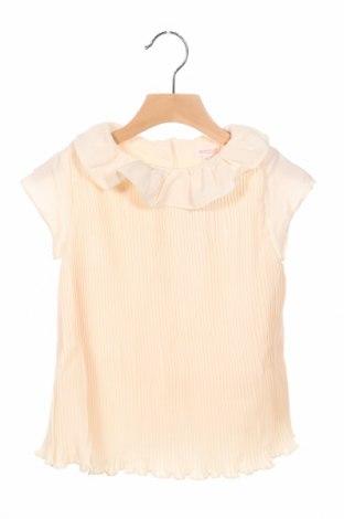Детска блуза Gocco, Размер 4-5y/ 110-116 см, Цвят Екрю, Полиестер, Цена 9,60лв.