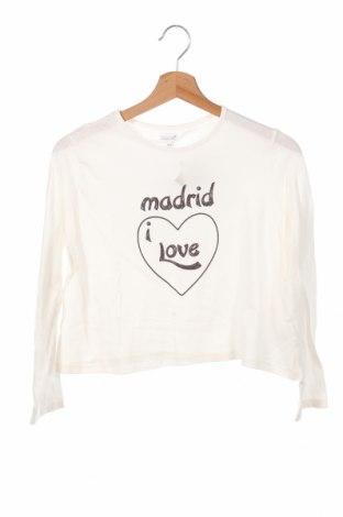 Детска блуза Gocco, Размер 11-12y/ 152-158 см, Цвят Бял, 95% памук, 5% еластан, Цена 24,00лв.