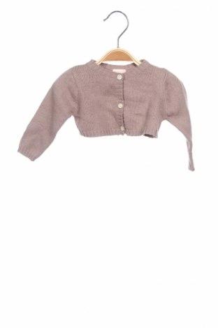 Детска жилетка Gocco, Размер 9-12m/ 74-80 см, Цвят Бежов, 60% памук, 30% полиамид, 10% вълна, Цена 16,10лв.
