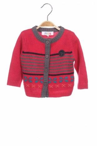 Детска жилетка La Compagnie des Petits, Размер 12-18m/ 80-86 см, Цвят Розов, 38% акрил, 31% вискоза, 23% памук, 8% вълна, Цена 9,66лв.