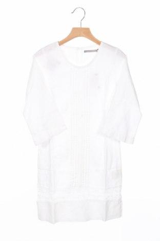 Детска рокля Le Phare De La Baleine, Размер 9-10y/ 140-146 см, Цвят Бял, 55% лен, 45% памук, Цена 20,65лв.