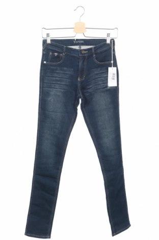 Dziecięce jeansy Guess, Rozmiar 12-13y/ 158-164 cm, Kolor Niebieski, 92% bawełna, 7% poliester, 1% elastyna, Cena 62,73zł