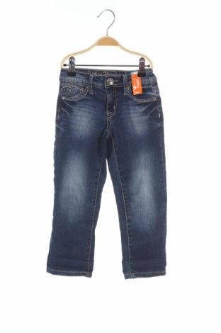 Детски дънки Justice, Размер 7-8y/ 128-134 см, Цвят Син, 75% памук, 24% полиестер, 1% еластан, Цена 8,75лв.