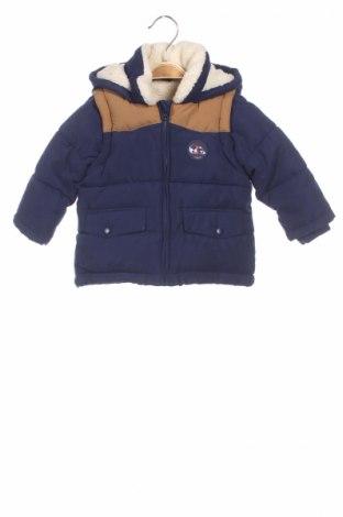 Детско яке Cyrillus, Размер 6-9m/ 68-74 см, Цвят Син, 88% полиестер, 12% полиамид, Цена 66,36лв.