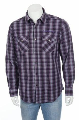 Мъжка риза Canda, Размер M, Цвят Сив, Памук, Цена 4,75лв.