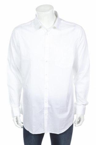 Мъжка риза Rodier, Размер XL, Цвят Бял, Памук, Цена 34,30лв.