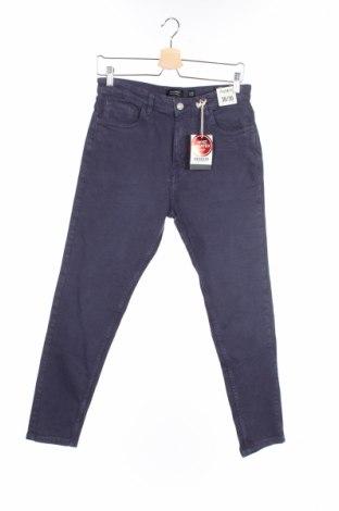 Męskie jeansy Pull&Bear, Rozmiar M, Kolor Niebieski, 98% bawełna, 2% elastyna, Cena 34,36zł