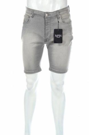 Pantaloni scurți de bărbați Boohoo, Mărime M, Culoare Gri, 98% bumbac, 2% elastan, Preț 37,90 Lei