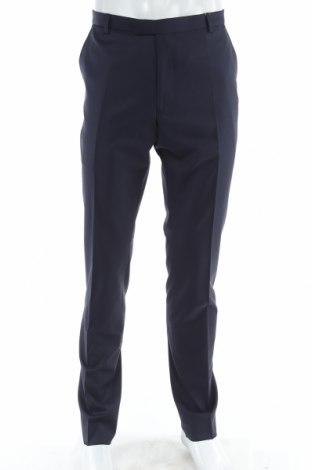 Ανδρικό παντελόνι Carnet De Vol, Μέγεθος L, Χρώμα Μπλέ, 60% μαλλί, 23% πολυεστέρας, 16% πολυαμίδη, 1% ελαστάνη, Τιμή 35,05€