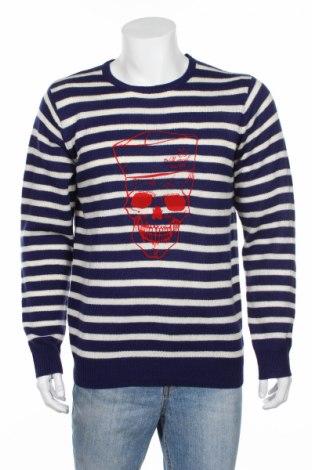 Pánsky sveter  Mr Marcel, Veľkosť XL, Farba Modrá, 70%acryl , 30% vlna, Cena  35,57€