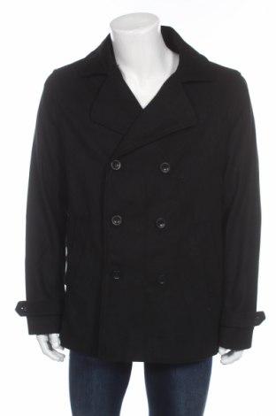 Ανδρικά παλτό Pier One, Μέγεθος L, Χρώμα Μαύρο, 90% πολυεστέρας, 8% μαλλί, 2% βισκόζη, Τιμή 66,49€