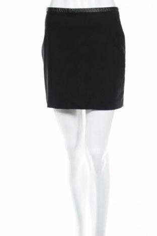 Пола H&M, Размер S, Цвят Черен, Памук, полиамид, еластан, еко кожа, Цена 4,50лв.