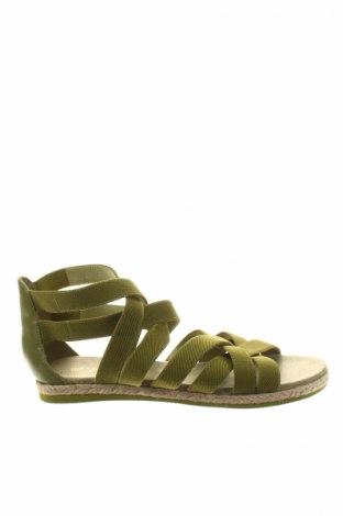 Сандали Flip Flop, Размер 41, Цвят Зелен, Текстил, естествена кожа, Цена 28,60лв.