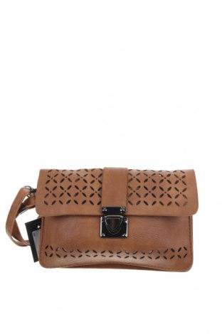 Дамска чанта, Цвят Кафяв, Еко кожа, Цена 28,56лв.