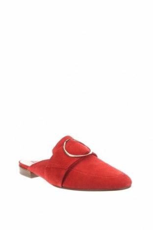 Чехли Hogl, Размер 35, Цвят Червен, Естествен велур, Цена 179,25лв.
