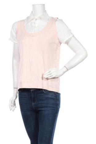 Дамска блуза Cable & Gauge, Размер L, Цвят Розов, 52% коприна, 23% вискоза, 25% полиамид, Цена 11,03лв.