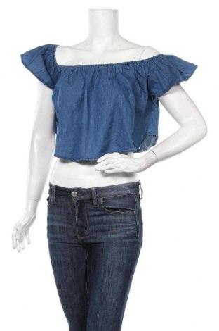 Дамска блуза Denim&Co., Размер L, Цвят Син, Памук, Цена 3,68лв.