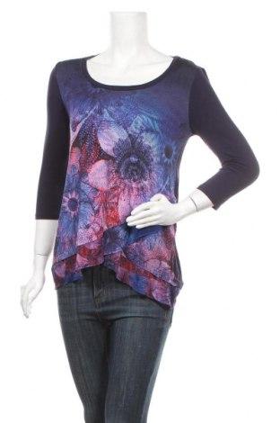 Дамска блуза Desigual, Размер S, Цвят Син, Цена 32,13лв.