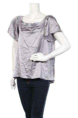 Дамска блуза Dex, Размер L, Цвят Сив, 96% полиестер, 4% еластан, Цена 8,40лв.