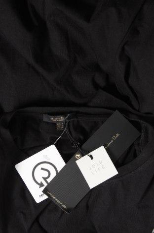 Дамска тениска Massimo Dutti, Размер S, Цвят Черен, Памук, Цена 20,65лв.
