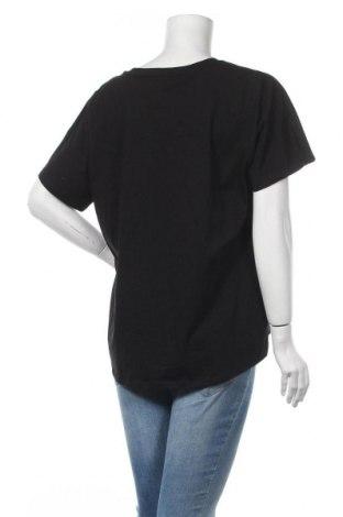 Дамска тениска Massimo Dutti, Размер XL, Цвят Черен, Памук, Цена 20,65лв.