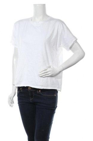 Дамска тениска Massimo Dutti, Размер L, Цвят Бял, Памук, Цена 19,60лв.