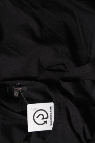 Дамска тениска Massimo Dutti, Размер S, Цвят Черен, Памук, Цена 18,24лв.