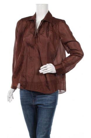Γυναικεία μπλούζα Massimo Dutti, Μέγεθος M, Χρώμα Καφέ, Μετάξι, Τιμή 11,74€