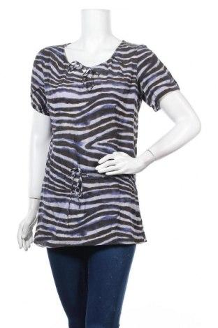 Дамска блуза Turnover, Размер S, Цвят Многоцветен, 53% коприна, 47% памук, Цена 13,65лв.