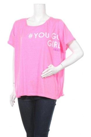 Γυναικεία μπλούζα Vrs Woman, Μέγεθος XXL, Χρώμα Ρόζ , 65% πολυεστέρας, 35% βαμβάκι, Τιμή 9,35€